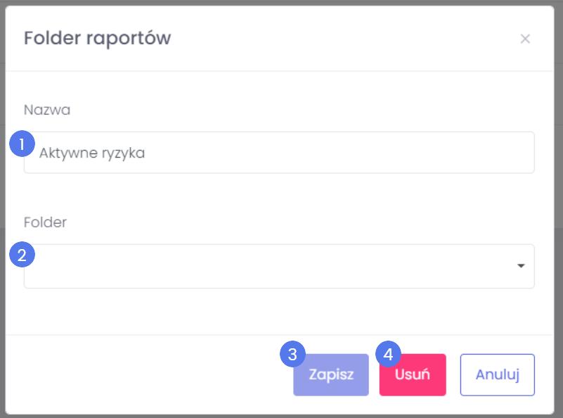 Folder raportów
