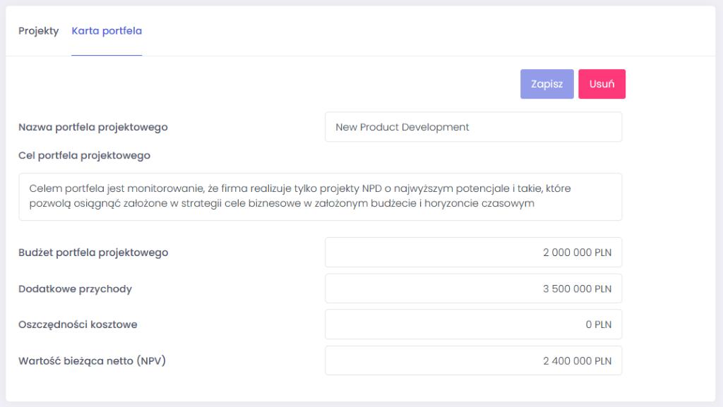 Karta nowego portfela projektowego - jak łatwo stworzyć i zarządzać portfelem projektów - blog o zarządzaniu projektami