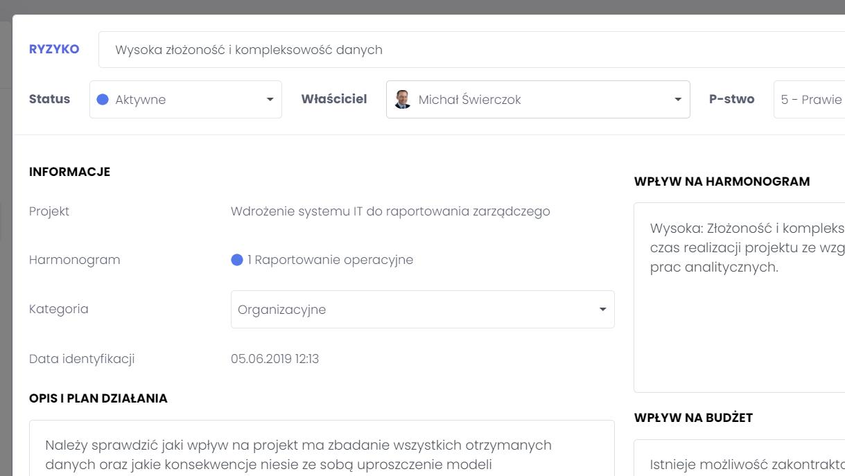 Przygotowywanie planu działania i określanie odpowiedzialnej osoby FlexiProject