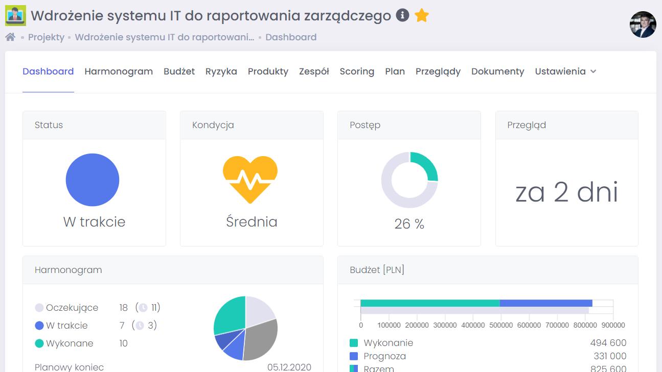 System powiadomień o przeglądach FlexiProject
