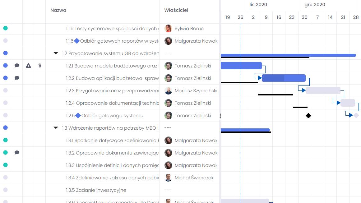 Wiązanie projektów z celami strategicznymi firmy FlexiProject