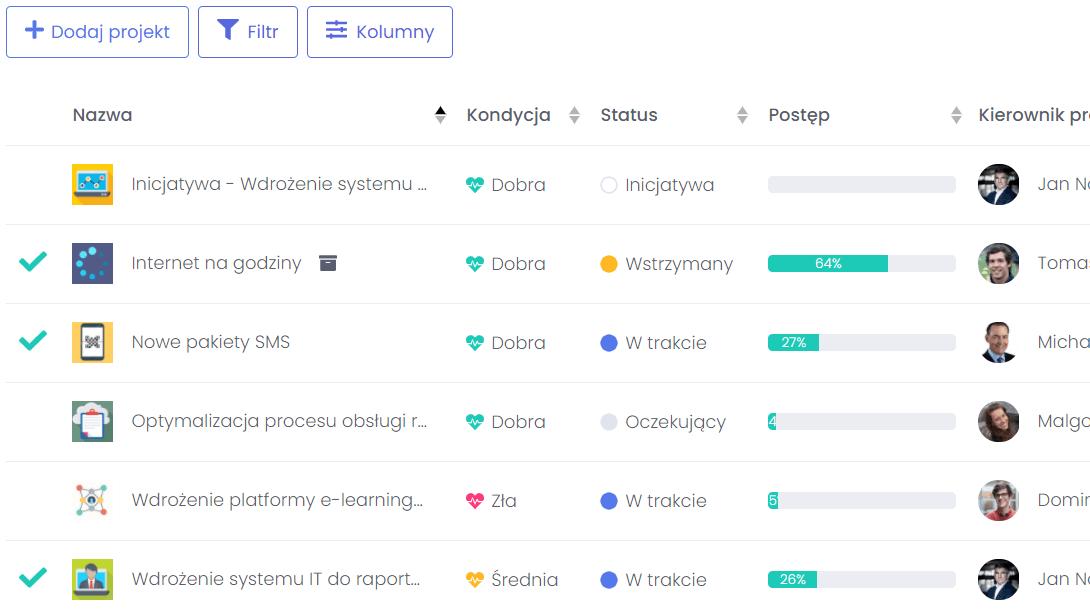 Automatyzacja działań FlexiProject