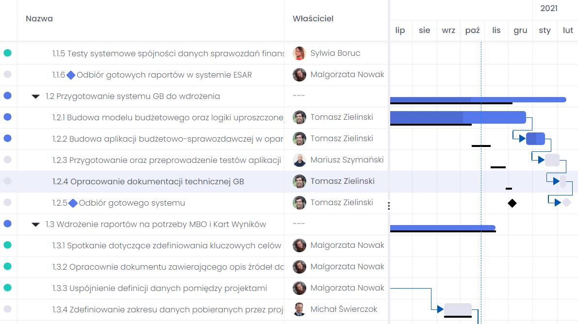 kompleksowy-harmonogram-projektu-flexiproject zarządzanie projektami