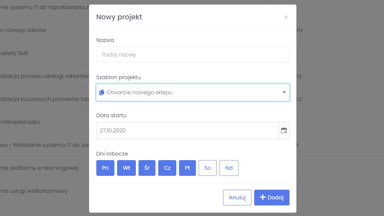 projektowanie optymalnego przebiegu projektow powtarzalnych flexiproject